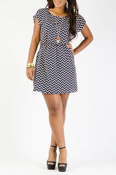 Chevron Print Woven Dress $15.99 #86776  https://www.gstagelove.com/shop/plus_sizes/product/6558