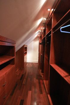 Built In Closet Walls angled ceiling | Storage and Closets Design Ideas, Remodels and Pictures