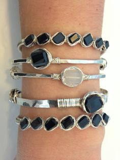 The more the better! Silver Bracelets, Bangles, Style Inspiration, My Style, Jewelry, Fashion, Silver Cuff Bracelets, Bracelets, Moda