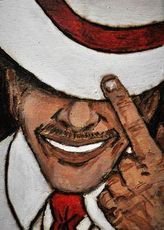 Imã Seu Zé no Elo7 | Marcio Heider (C262F9) Trippy Drawings, Art Drawings Sketches, Black Girl Art, Art Girl, Acrylic Painting Tips, Cuban Art, Black Art Pictures, Paint And Sip, Orisha