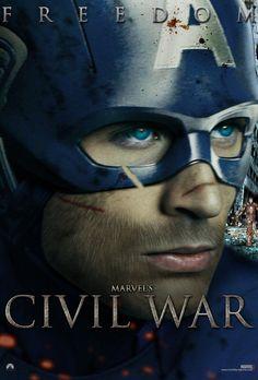 Marvel's Civil War Captain America Freedom Poster by ~Enoch16 on deviantART
