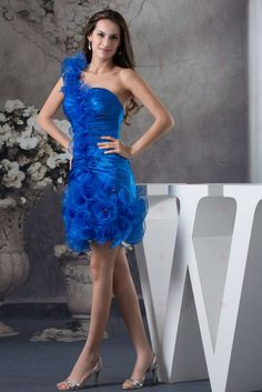 Sheath/ Column Pleats Organza Silk-like Satin Quinceanera Dress Dresses 2013, Cheap Dresses, Simple Dresses, Sweet 16 Dresses, Blue Dresses, Quinceanera Dresses, Homecoming Dresses, Dress P, Party Dress