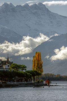 Early autumn in Lake Geneva, Switzerland