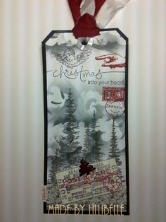 bookmark made with rubber stamps and mixed media by http://lillibelles.blogspot.de/