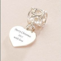 Engraved Merry Christmas 2015 Charm fits Pandora made from Sterloing Silver. A beautiful Christmas gift for Mum, Mummy, Nan, Nanny, Godmother, Goddaughter, Grandmother, Granddaughter.... to keep and to treasure for many years.