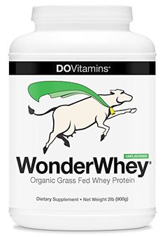 WonderWhey CERTIFIED Organic Grass Fed Whey Protein by Do Vitamins: Truly Unflavored Organic Protein Powder from California! Non-GMO, Gluten Free, Cleanest and Healthiest Whey Protein, 2 Pounds Bulk >>> Click image to review more details.