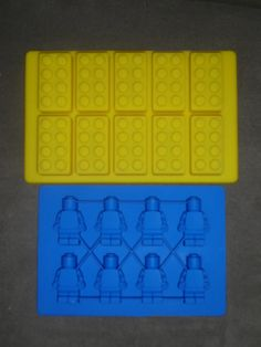 I bet THESE wouldn't end up underfoot!      Set of 2 Silicone Lego Minifigure Ice tray & brick by shescrafty10, $19.99