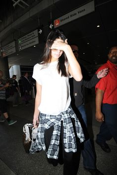 Kendall jenner at LAX from Paris