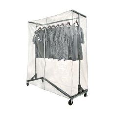 Keep your garments clean and neat without hiding the merchandise with the help of this excellent Only Hangers Clear Vinyl Heavy-Duty Nesting Z Rack Cover. Rolling Clothes Rack, Bar Clothes, Rolling Rack, Clothes Racks, Clothing Store Displays, Suit Hangers, Garment Racks, Hanging Rail