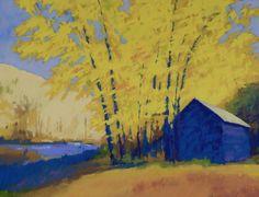 Fall pastel painting by John Hartman
