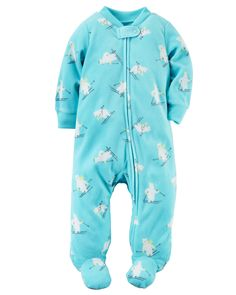 Baby Boy Fleece Zip-Up Sleep & Play from Carters.com. Shop clothing & accessories from a trusted name in kids, toddlers, and baby clothes.