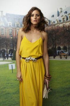 Olivia Palermo in Tibi yellow dress