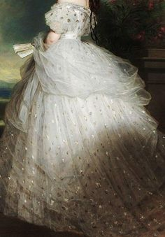renaissance art Traveling through history of Art.Elisabeth of Bavaria, Empress of Austria, detail, by Franz Xaver Winterhalter, Franz Xaver Winterhalter, Fairytale Dress, Fairytale Fashion, Illustration Mode, Illustrations, Princess Aesthetic, Fantasy Dress, Classical Art, Renaissance Art