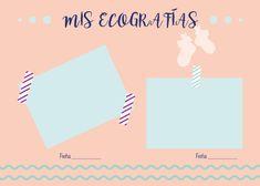 Diario de embarazada - Mamas Aquadeus Mini Scrapbook Albums, Baby Scrapbook, Mini Albums, Baby Shawer, Baby Born, Maria Jose, Baby Album, Photo Book, New Baby Products