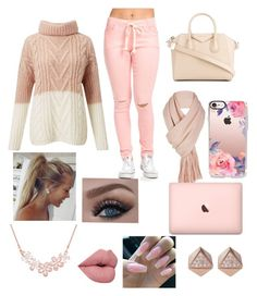 """""""Just a Fall Outfit😉❤️️"""" by queenlamyaa ❤ liked on Polyvore featuring Miss Selfridge, Givenchy, Free People, Casetify and FOSSIL"""