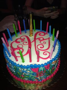 Birthday monogram cake