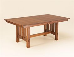 Aspen Mission Trestle Table | Trestle Tables | Amish Dining Room Tables 44409  Good looking table