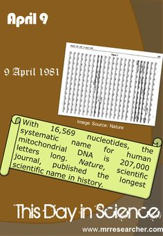April 9 | Mr. Researcher