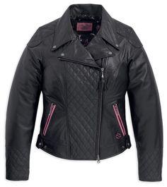 Harley-Davidson® Women's Pink Label Special Edition Leather Jacket 97118-12VW