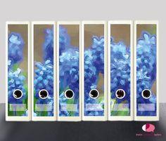 Set 10 St/ück Ordner-Etiketten selbstklebend Ordnerr/ücken Sticker Rosa Rosen Gem/älde