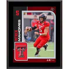 """Patrick Mahomes Texas Tech Red Raiders Fanatics Authentic 10.5"""" x 13"""" Sublimated Player Plaque"""