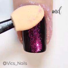 Ugh, love this color! Pink Chrome Nails, White Nails, Manicure, Nail Effects, Nail Art Videos, Get Nails, Glitter Nail Art, Nail Tutorials, Simple Nails
