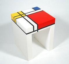 Mesita estilo Mondrian
