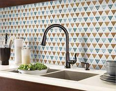 Beaustile Mosaic 3D Wall Sticker Home Decor NAPT Fire Retardant Backsplash Wallpaper Bathroom Kitchen DIY Design *** Read more at the image link. (This is an affiliate link) #KitchenBacksplashDIY