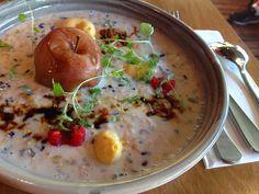 4 grain porridge, pastry cream, baked apple & rapadura sugar. [Top Paddock Cafe - Richmond, Melbourne]