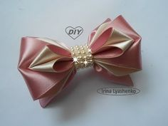 Бантик из атласной ленты МК/DIY Satin ribbon bow/PAP Laço de fita de cetim#127 - YouTube