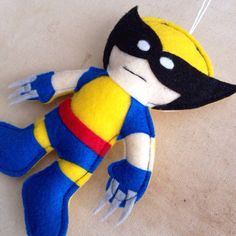 Wolverine Felt Ornament by HebCrafts on Etsy