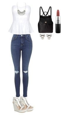 """White themed"" by ootdqueen1889 on Polyvore"