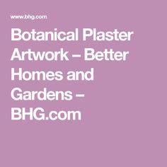 Botanical Plaster Artwork – Better Homes and Gardens – BHG.com