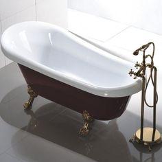 Antique Vintage Claw Foot Bath Tub Victorian Bathroom Luxurious Soaking Oval Vtg #AntiqueVintageClawFootBathTub