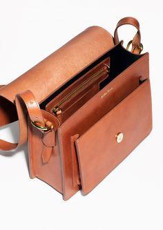 & Other Stories   Saddle Stitch Leather Shoulder Bag