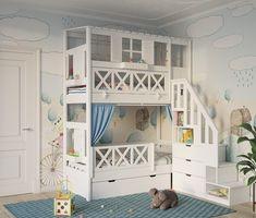WOODЛАНДИЯ ВЕРСИЯ ДЛЯ МОБИЛЬНЫХ   детские под заказ Bedroom For Girls Kids, Kids Bedroom Designs, Kids Room Design, Bedroom Ideas, Baby Bunk Beds, Kid Beds, Toddler Rooms, Kids Bedroom Furniture, Piece A Vivre