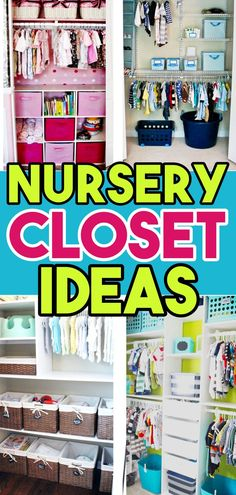 Baby Closet Ideas: 47 Nursery Closet Organization, Storage and Baby Closet Organizer Ideas Small Space Nursery, Small Closet Space, Small Spaces, Nursery Closet Organization, Organization Ideas, Nursery Storage, Storage Ideas, Organizing Tips, Calendar Organization