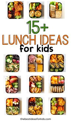School Lunch Ideas for kids - over 16 easy lunch box ideas!You can find Lunch box ideas for kids and more on our website.School Lunch Ideas for kids - over 16 easy lunch box ideas! Easy School Lunches, Kids Lunch For School, Kids Meals, Easy Meals, Easy Lunch Boxes, Lunch Ideas, Healthy Snacks, Healthy Recipes, Lunch Snacks