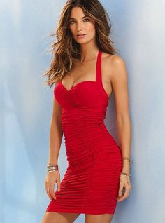 Ruched Bomshell PUsh-up bra top dress - Victoria Secret