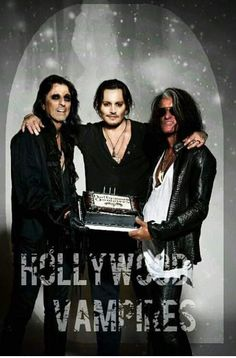 Alice Cooper, Johnny Depp & Joe Perry
