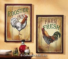 Rooster prints for this country girl.