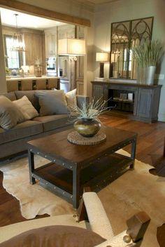 48 Cozy Farmhouse Living Room Makeover Decor Ideas #Farmhouse #LivingRoom