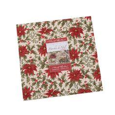 Moda Fabrics Marches de Noel 3 Sisters 42 Fabric Squares Layer Cake | Fabric Square 10 Inch