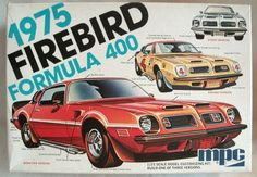 MPC 1/25 1975 Pontiac Firebird Formula 400 - Stock - Race Car - Show Car, 1-7515 plastic model kit