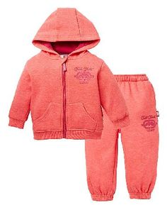Ecko Unltd Ecko Baby Girl Tracksuit Ecko Tracksuit. An adorable oufit for your baby girl. This Ecko hooded sweatshirt and jog pants set is a great every day outfit to keep your little one warm and cosy. Made from soft cotton with a flee http://www.MightGet.com/january-2017-13/ecko-unltd-ecko-baby-girl-tracksuit.asp