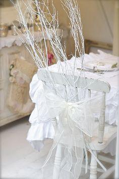 Narnian Winter Chair Decor