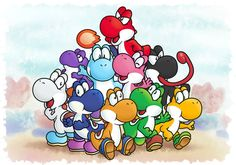 Yoshi Clan by MuzYoshi on DeviantArt Mario Bros., Mario And Luigi, Mario Kart, Super Mario World, Super Mario Bros, Yoshi, Mario All Stars, Steven Universe Funny, Lets Play A Game