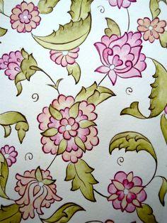 Halkar Islamic Art Pattern, Arabic Pattern, Islamic Calligraphy, Calligraphy Art, Ceramic Painting, Fabric Painting, Jacobean Embroidery, Art Basics, Turkish Art
