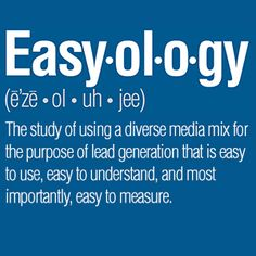 For Rent Media Solutions™' suite of products provides you with a diverse #marketing mix that is easy to use, easy to understand, and easy to measure. Here are six truths of Easyology that you need to know. #media