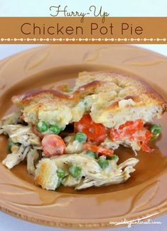 Had a busy day? There's still time for a yummy homemade dinner! This Chicken Pot Pie is made for those nights when you come home exhausted and hungry and need something in a hurry. #chickenpotpie #comfortfoodrecipes #comfortfood #chickenrecipes #comfortingfood #dinnerrecipes #dinnerideas
